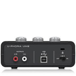 Behringer U-PHORIA UM2 2 x 2 Audio interfacce with USB 2.0